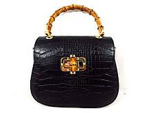 Жіноча сумочка  . Італія 100% натуральна шкіра . Чорна