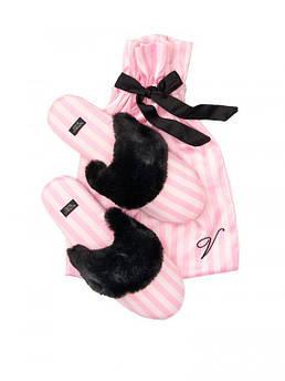 Атласные домашние тапки Victoria Secret. Оригинал! VS 274