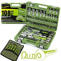 СУПЕР НАБОР!Набор инструментов 108 ед. Alloid НГ-4108П-6+ набор отверток в чехле 6 ед