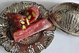 Рахат-лукум с цельной фисташкой гранатовый Турция ,300 гр, восточные сладости, фото 2