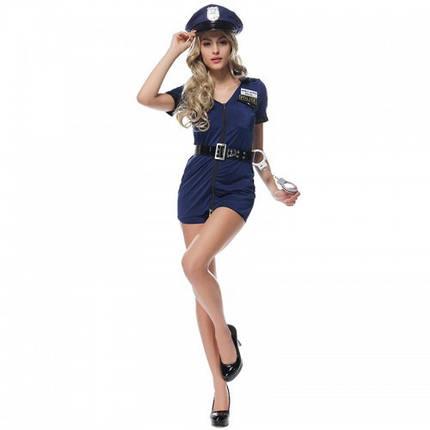 Костюм Полицейская униформа Police Woman Сексуальный наряд полицейский форма с головным убором, фото 2