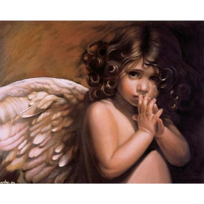 Картина по номерам  Ангелочек 40*50см КНО295  Идейка
