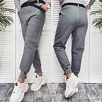 Спортивные штаны на флисе женские чёрные, серые, 42, 44, 46, фото 1