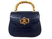Жіноча сумочка  . Італія 100% натуральна шкіра . Синя, фото 1