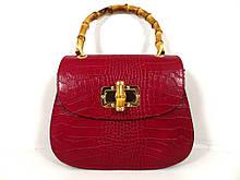 Жіноча сумочка  . Італія 100% натуральна шкіра . Червона