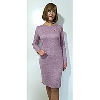 Платье женское осеннее большого размера 56 (54-62) батал для полных женщин №384