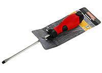 M18-270555, Отвертка   1,0*5,5*125 мм  плоская на магните., , красный-черный