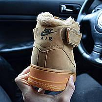 Мужские зимние кроссовки в стиле Nike Air Force 1 Mid Winter с мехом, фото 3