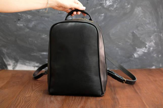 Рюкзак женский Колибрончик Кожа Итальянский краст цвет Черный, фото 2