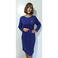 Платье женское осеннее большого размера 58 (54-62) батал для полных женщин №384