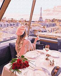 Картина по номерам BrushMe Девушка на телебашне в Париже (BK-GX29245) 40 х 50 см (Без коробки)
