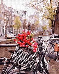 Картина по номерам BrushMe Доставка тюльпанов в амстердаме (BK-GX29265) 40 х 50 см (Без коробки)