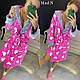 Женский плюшевый розовый домашний халат с Hello Kitty, фото 4