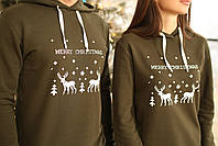 Парные худи с капюшоном  Merry Christmas, фото 2