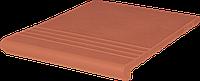 Клинкерная ступень King Klinker (01)  Венецианская гладкая/рифленая 330х245х16