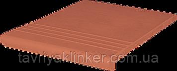 Клинкерная ступень King Klinker (01)  Венецианская гладкая/рифленая 330х245х14