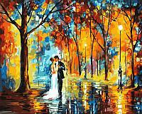 Раскраска по цифрам Дождливая свадьба худ Афремов, Леонид (VP457) 40 х 50 см