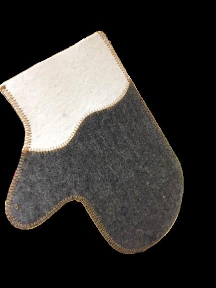 Рукавица для бани и сауны  (комбинированный войлок).