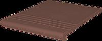 Клинкерная ступень King Klinker (03) Венецианская гладкая/рифленая 330х330х14
