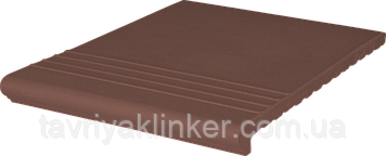 Клинкерная ступень King Klinker (03) Венецианская гладкая/рифленая 330х245х14