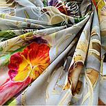 10730-2, павлопосадский платок из вискозы с подрубкой, фото 6
