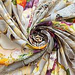 10730-2, павлопосадский платок из вискозы с подрубкой, фото 7