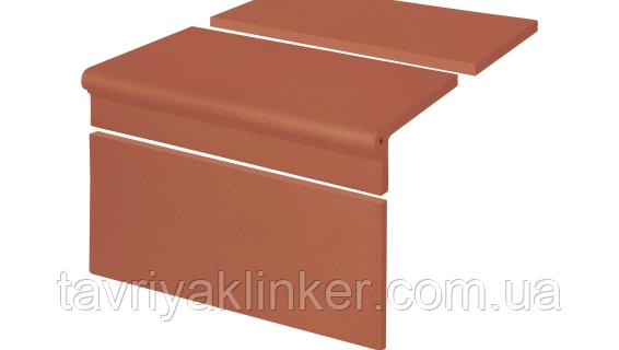 Клинкерная ступень крыльцо King Klinker (01) Набор Римский гладкий 300/175х245х12
