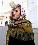Цветет сирень 1360-10, павлопосадский платок шерстяной  с шелковой бахромой, фото 7