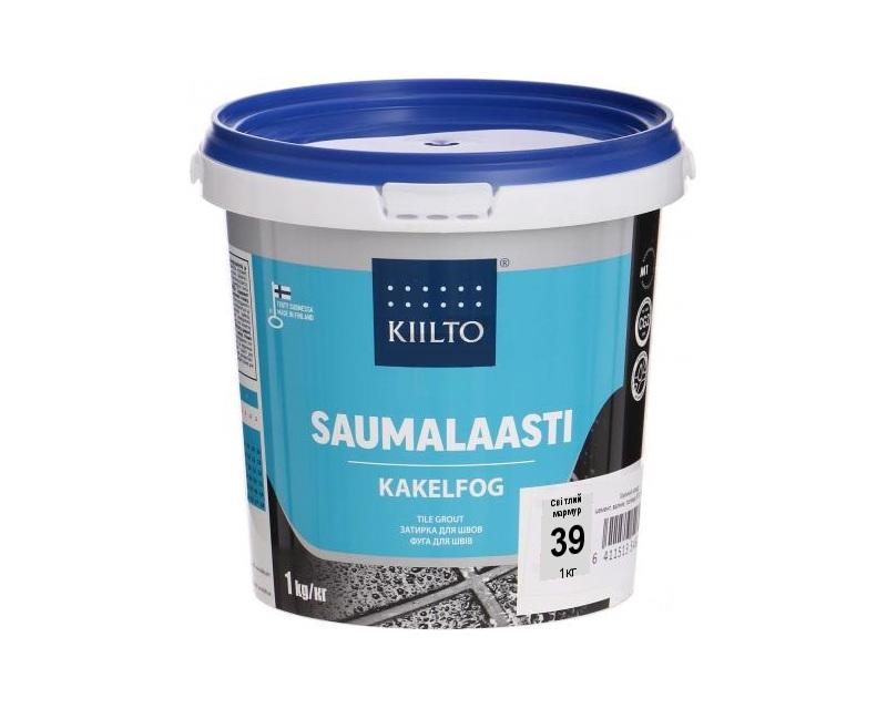 Затирка цементная KIILTO для швов плитки №39 - светлый мрамор 1кг
