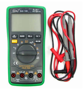 Мультиметр цифровой BAKU BA-18B (функция Auto Off, подсветка, автоопределение номинала измерения (ток до 10A)