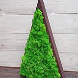 Ялинка трикутна з мохом, трикутник з мохом для новорічного декору 55 см, фото 4