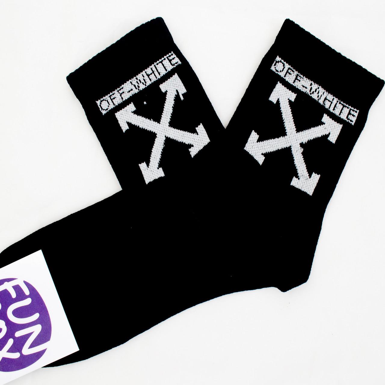 """Шкарпетки з принтом """"Off-white Чорний """""""