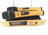Комплект беспроводных микрофонов SHURE Радиосистема DM SH-300G состоит из базы и 2 микрофонов, фото 2