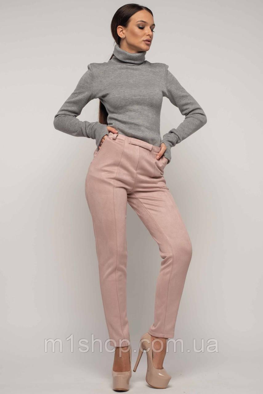 Женский костюм с гольфом и велюровыми брюками (Бэйс-роу ri)