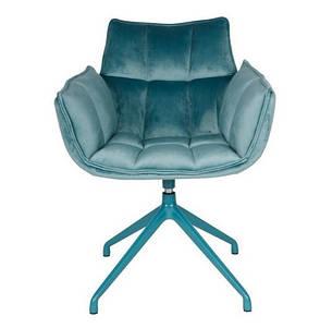 Крісло поворотне CHARDONNE (63х63х82 cm) бірюзове, фото 2