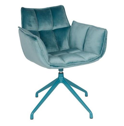 Крісло поворотне CHARDONNE (63х63х82 cm) бірюзове