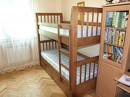 Двухъярусная кровать Зарина из дерева (массив Бука)