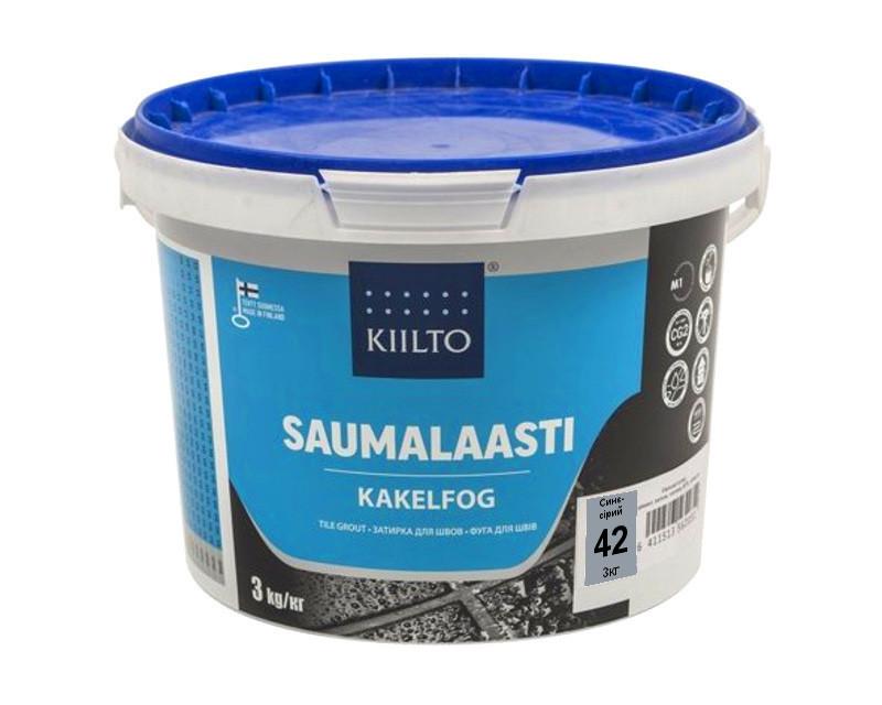 Затирка цементная KIILTO для швов плитки №42 - серо-синяя 3кг