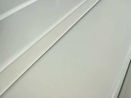 Реечный алюминиевый потолок Allux белый матовый комплект 190 см х 220 см