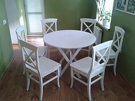 Круглый стол из дерева складной (массив Бука)