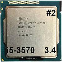 Процессор ЛОТ#2 Intel Core i5-3570 N0 SR0T7 3.4GHz 6M Cache Socket 1155 Б/У, фото 1