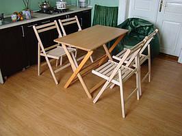 Большой деревянный складной стол (массив Бука)