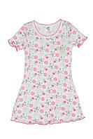 Ночная сорочка для девочек с коротким рукавом (ластик)