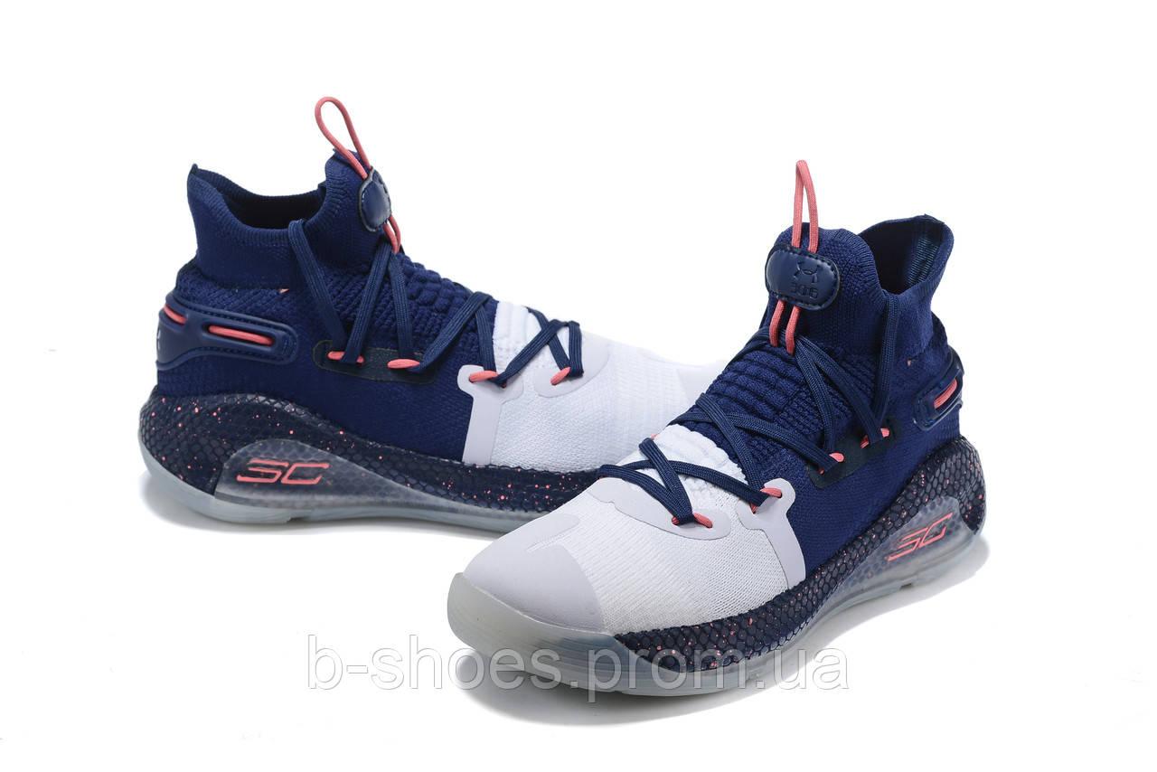 Мужские Баскетбольные кроссовки  Under Armour Curry 6(Blue/white)