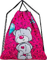Мешок для сменной обуви для девочки розовый с Мишкой Winner M-27