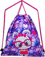 Мешок для сменной обуви для девочки фиолетовый с Кроликом Winner M-18