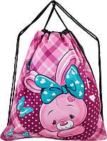 Мешок для сменной обуви для девочки розовый с Кроликом Winner M-22