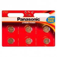 Panasonic CR 2032 BLI 6 LITHIUM Наименование типа CR2032 Масса 3,1000 g электрохимическая система Первичный ли