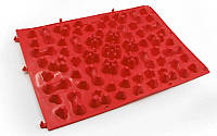 Коврик-пазл ортопедический массажный резиновый (1шт) красный ZD-5082
