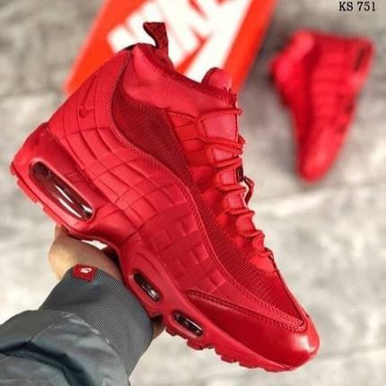 Мужские кроссовки в стиле Nike Air Max 95 Sneakerboot Red, фото 2
